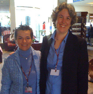 Climate Interactive Co-Director Beth Sawin with UNFCCC Chair Christiana Figueres
