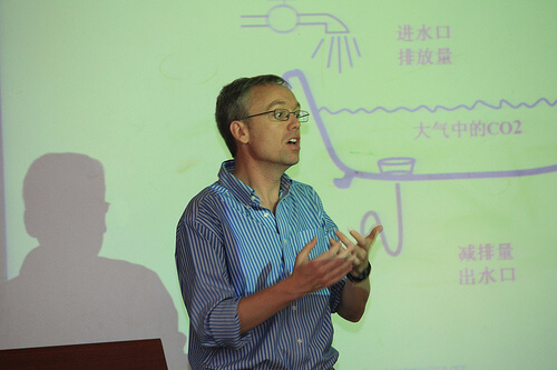 Climate Interactive Co-Director Drew Jones at Tsinghua University in China