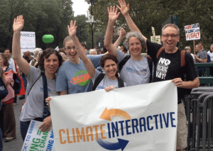 CI team at the peoples climate march