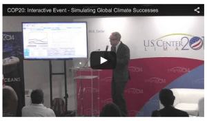 Climate Interactive Team Charts out Scenarios of Success at UN Negotiations in Lima Peru