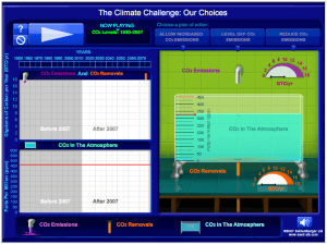 "Test your understanding of the ""carbon bathtub"" with our simulation."