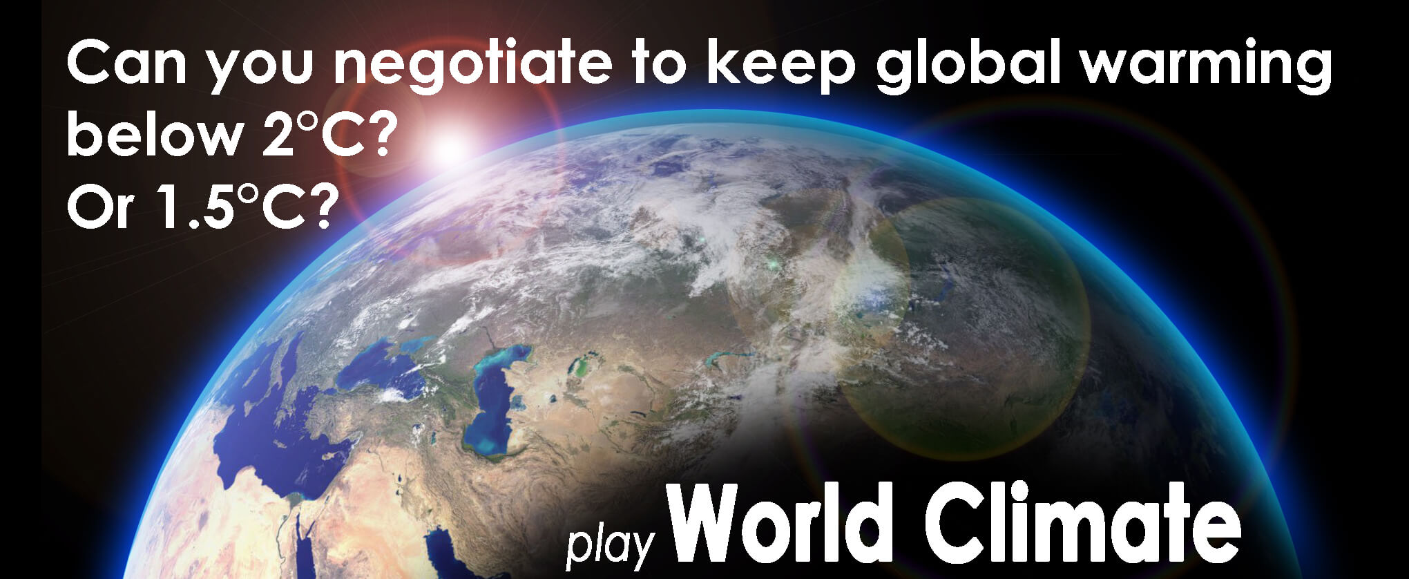 Play World Climate, the mock-UN climate simulation game